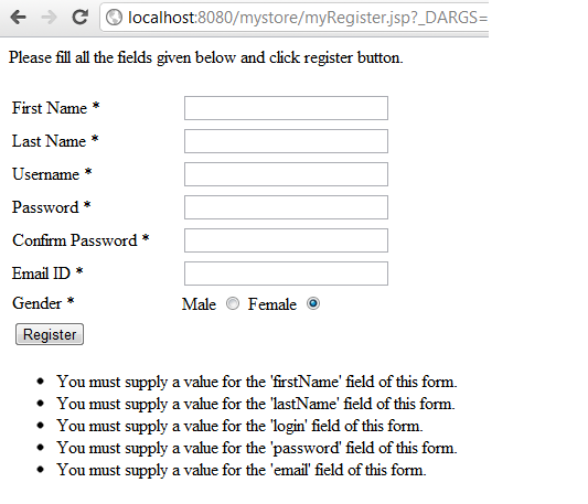 ATG form validation