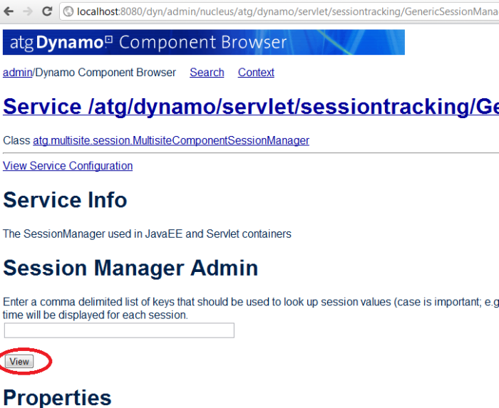 ATG SessionManager